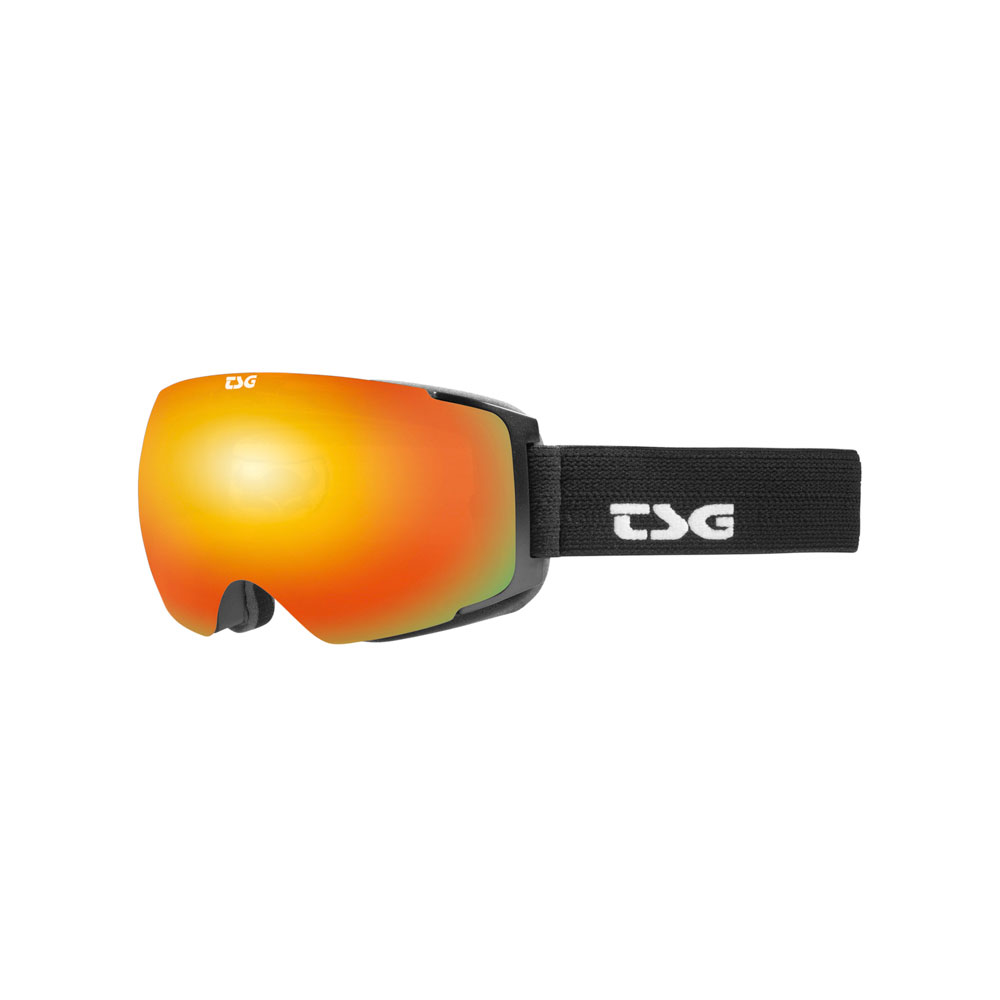 TSG Goggle Two Solid Black / Red Chrome Μάσκα