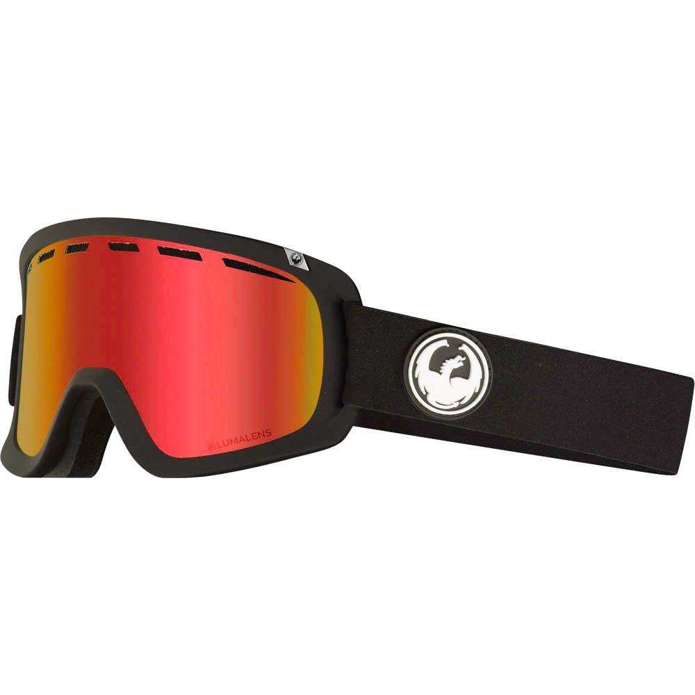 Dragon D1 OTG Black w/Lumalens Red Ionized+Bonus Lens Snow Goggle
