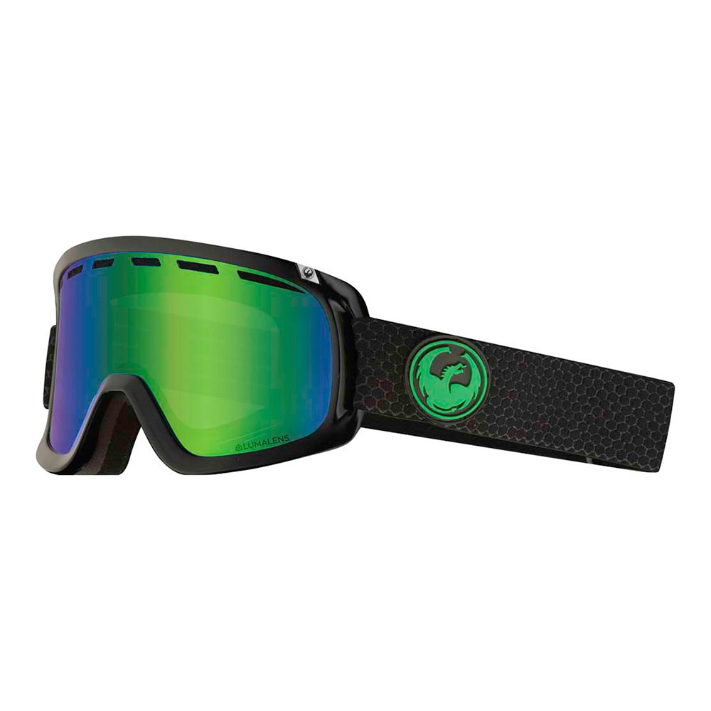 Dragon D1 OTG Split w/Lumalens Green Ionized+Bonus Lens Snow Goggle