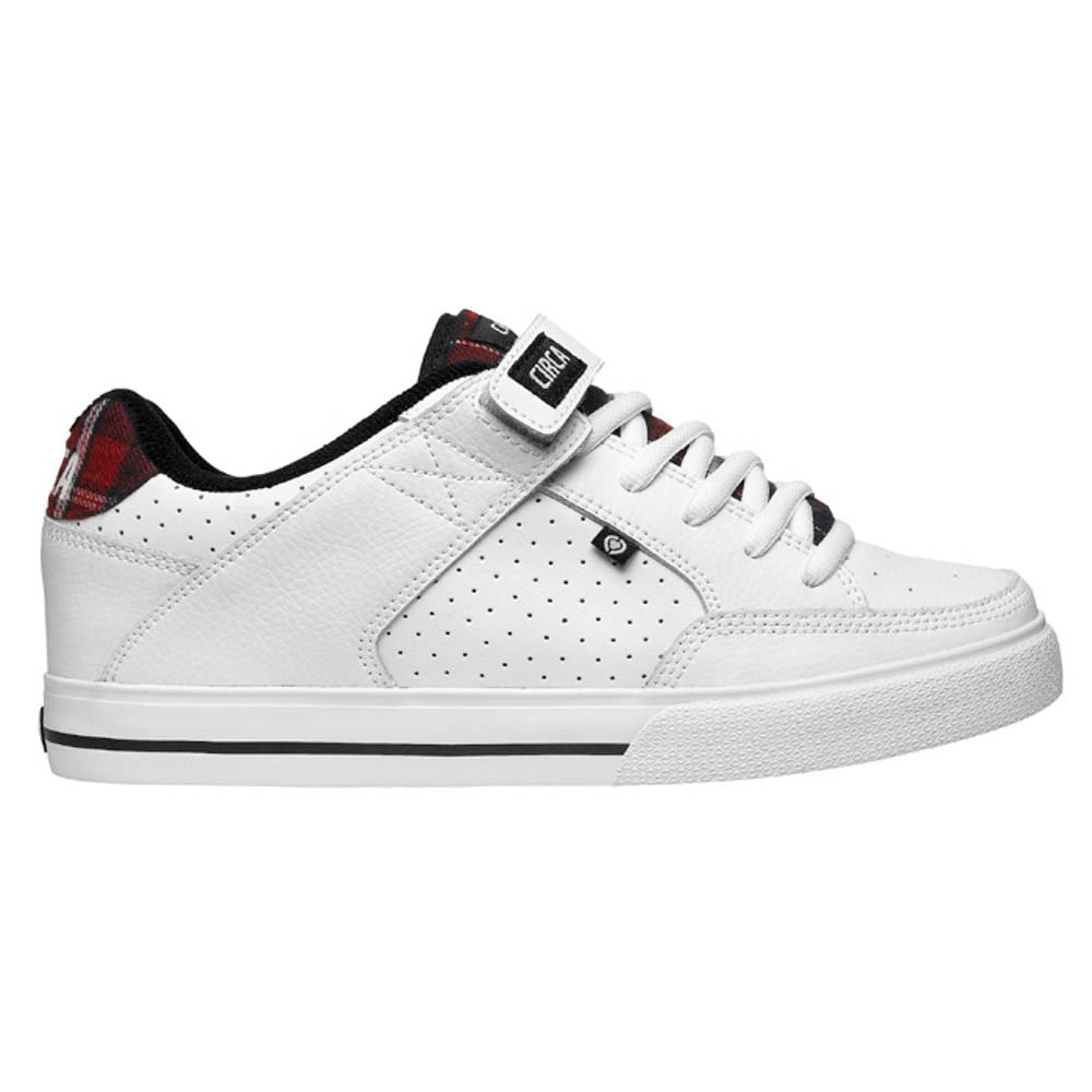 C1rca 205vulc White Red Black Plaid Men's Shoes