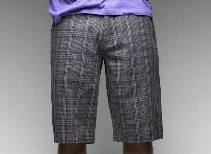 C1rca  Tailor Plaid Light Charcoal Men's Short