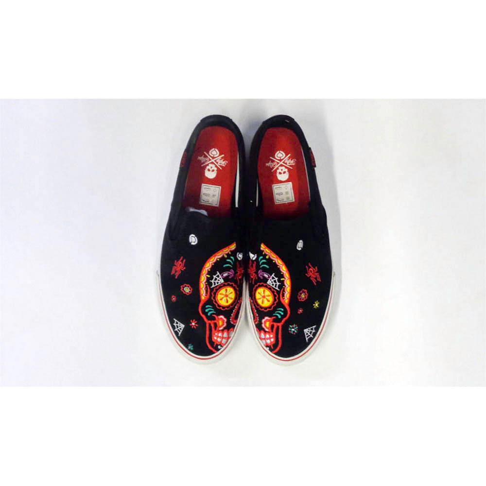 C1rca AL50 Slips Black Sugar Skull Men's Shoes