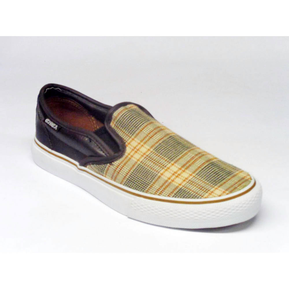 C1rca AL50 Slips Dark Chocolate Tan Plaid Αντρικά Παπούτσια