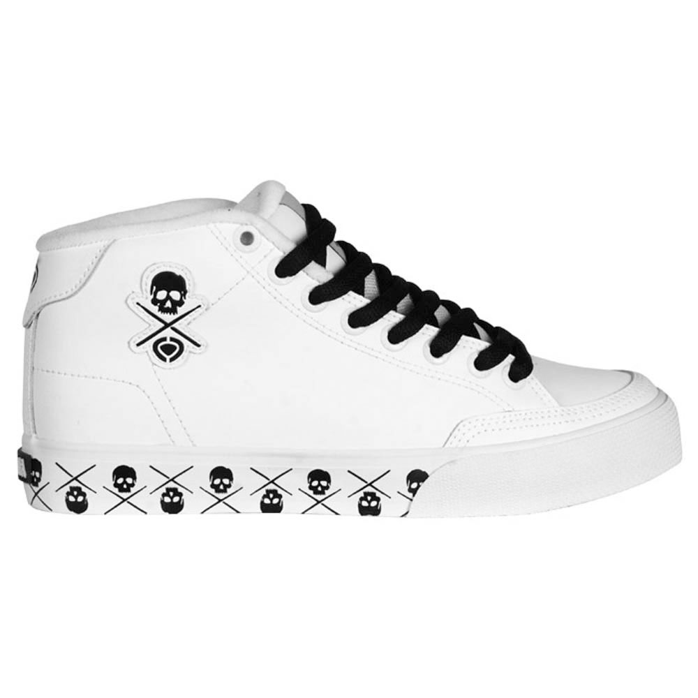 C1rca Al50wmid White Black Skulls  Women's Shoes