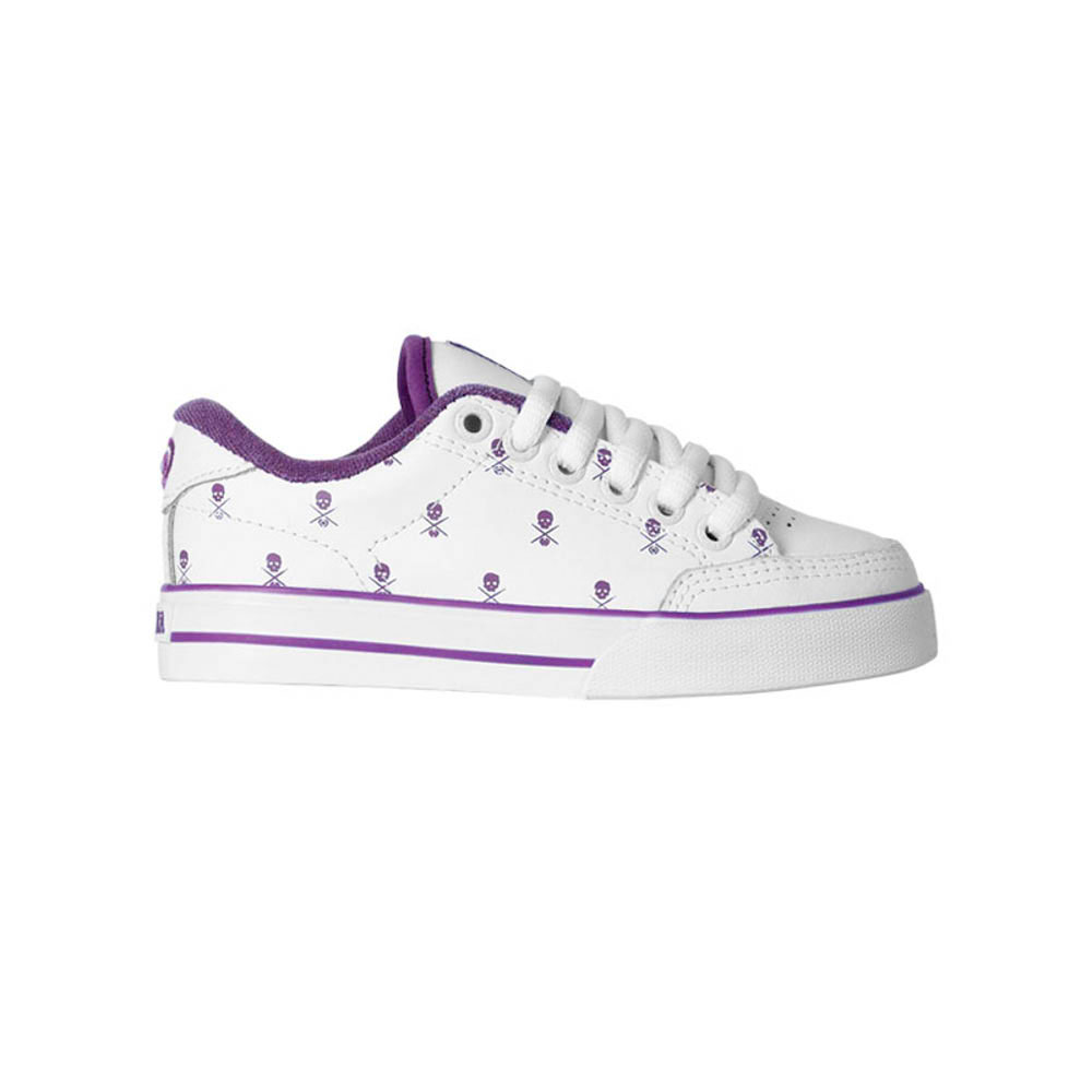 C1RCA ALK50 WHITE/PLUM/SKULLS KIDS SHOES