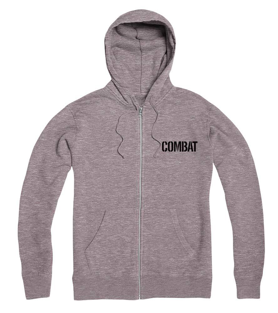 C1rca Combat Athletic Grey Men's Zip Hoodie