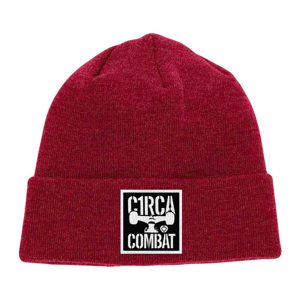 C1rca Combat Patch Classic Red Beanie