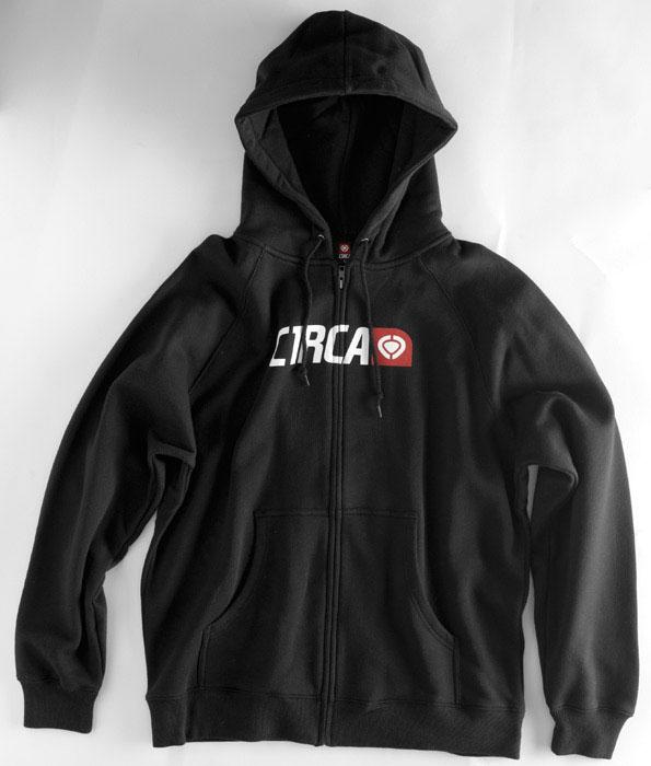 C1rca Corp Logo Black Men's Zip Hood