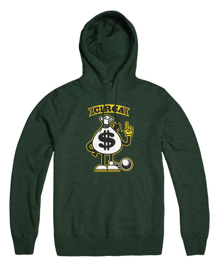 C1rca Dollar Forrest Green Ανδρικό Φούτερ Κουκούλα