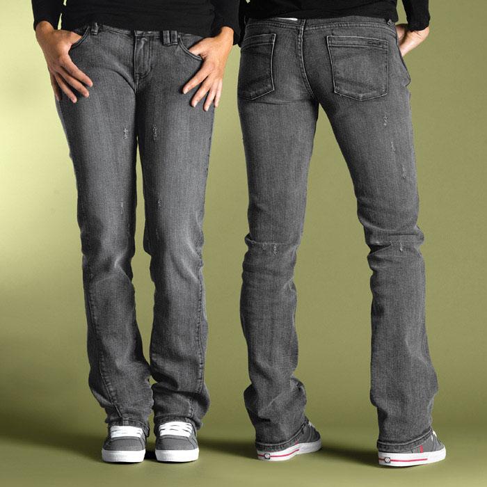C1rca Engineered Straight Vintage/Black Women's Pants