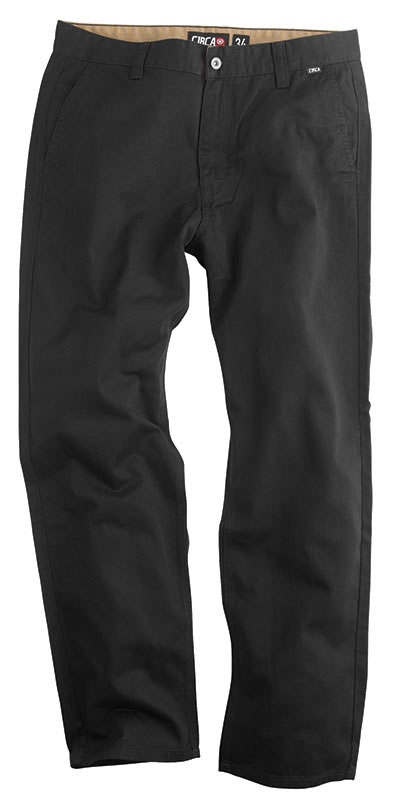 C1rca Flat Front Chino Black Αντρικό Παντελόνι