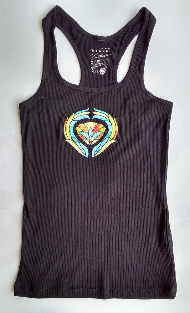 C1RCA GLASS BLACK WOMENS TANK