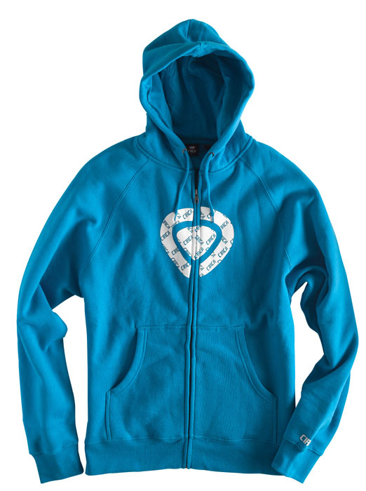 C1rca Icon Corp Cyan Men's Zip Hood