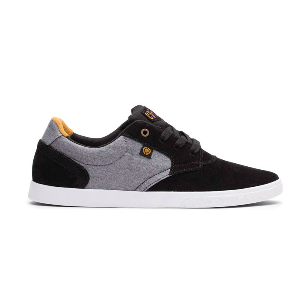 C1rca Jc01 Black Gray Suede Textured Canvas Ανδρικά Παπούτσια
