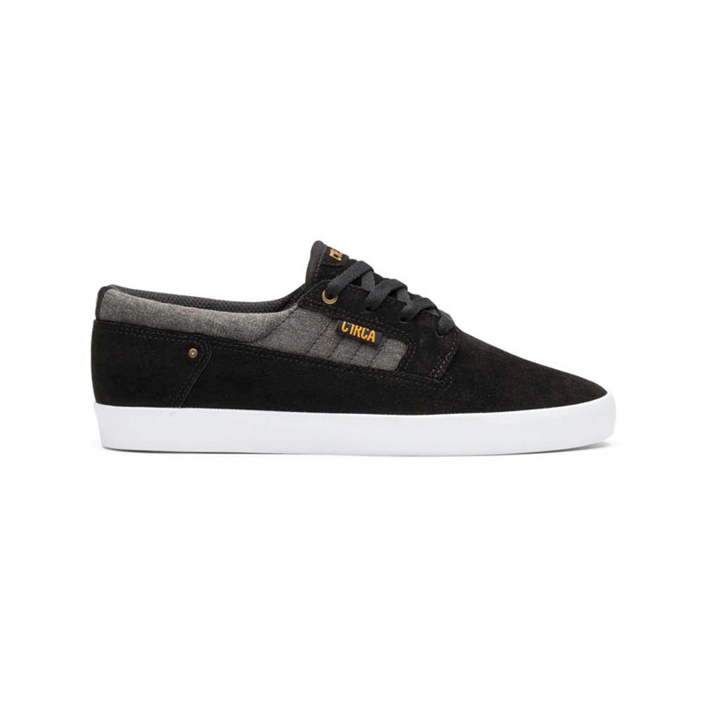 C1rca Lancer Black Inca Gold Suede Wash Canvas Men's Shoes