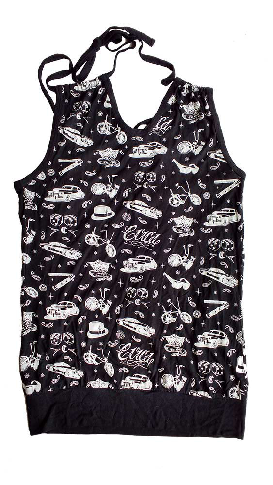 C1rca Lowriders Cinch Black  Women's Top