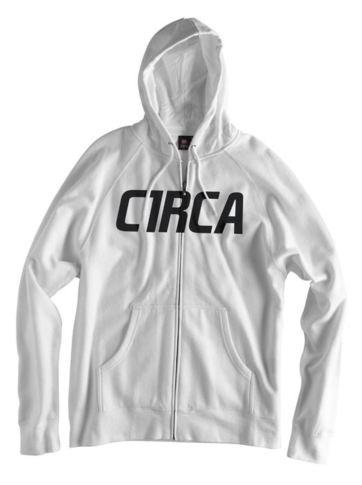 C1rca Mainline Font White Men's Zip Hood