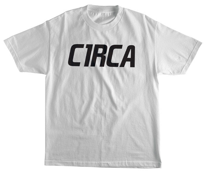 C1rca Mainline Font White Youth T-Shirt
