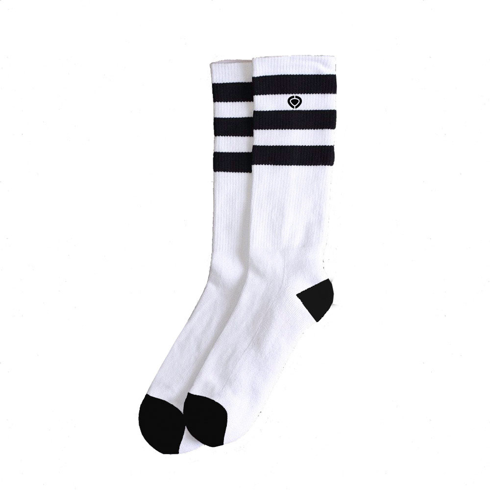 C1rca Old Skool 2 20 Cm 3 Stripe White/Black Socks