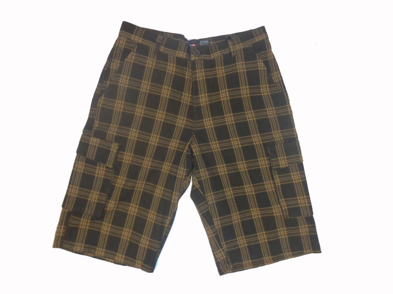 C1rca Plaid Brown Men's Short