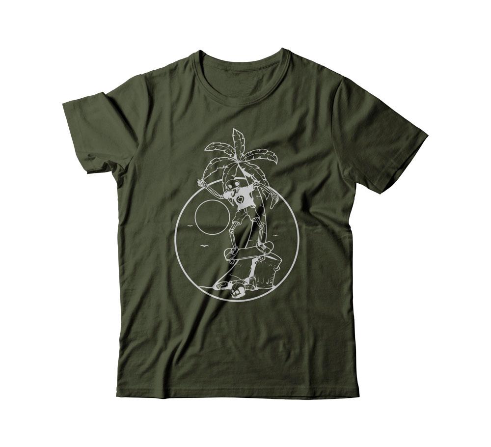 C1rca Skeleton Palm Military Green Men's T-Shirt