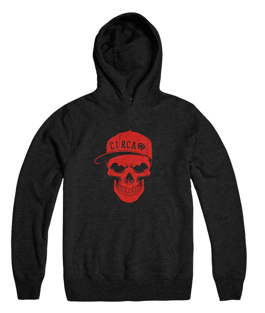 C1rca Skull Black Ανδρικό Φούτερ Κουκούλα