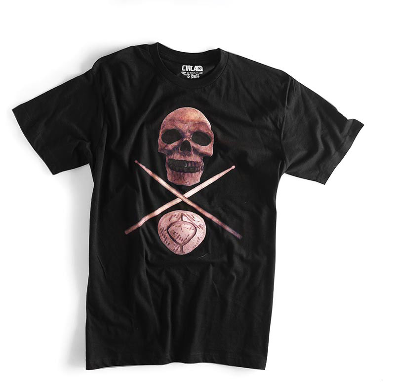 C1rca Skull Cross Sticks Slim Fit Men's T-Shirt