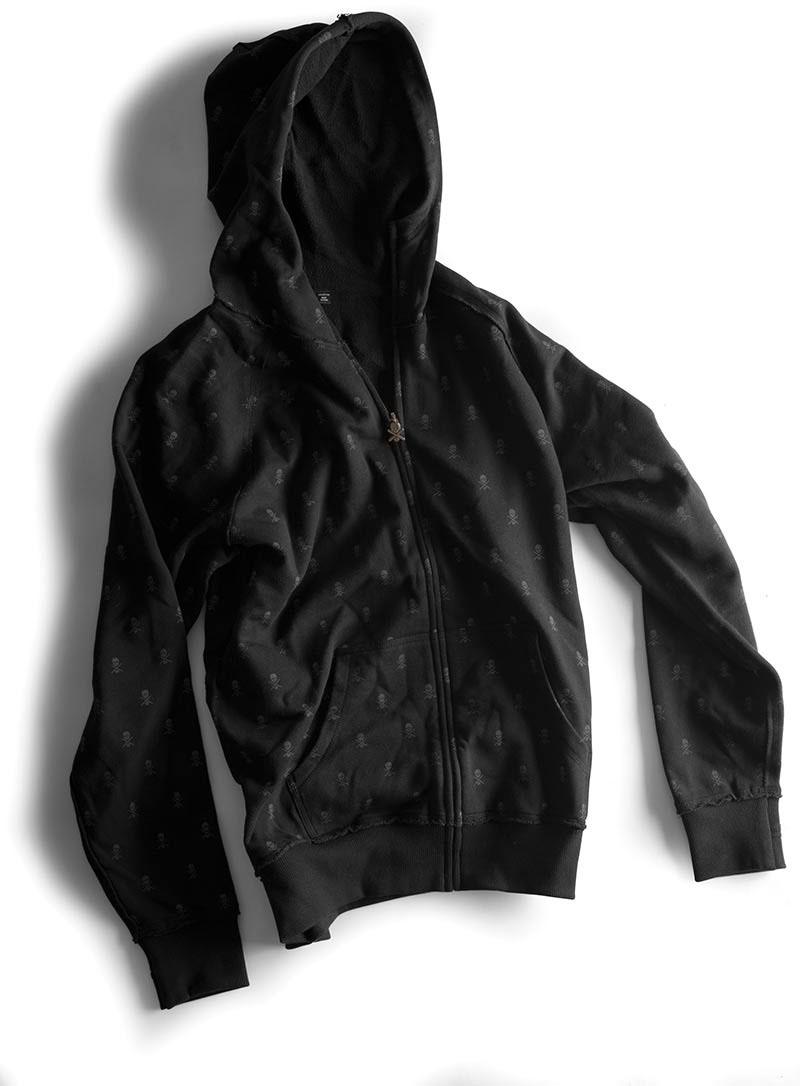 C1rca Skull Repeat Black Men's Zip Hood