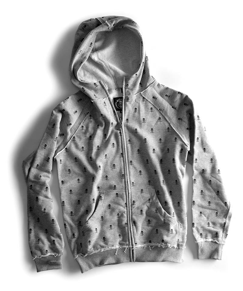 C1rca Skull Repeat Grey Heather Men's Zip Hood