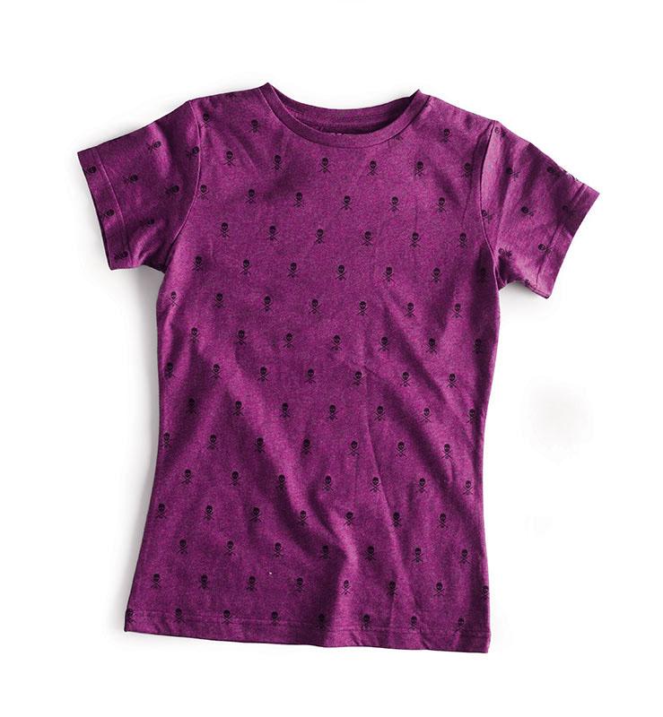 C1rca Skull Repeat Heather Fuschia Women's T-Shirt