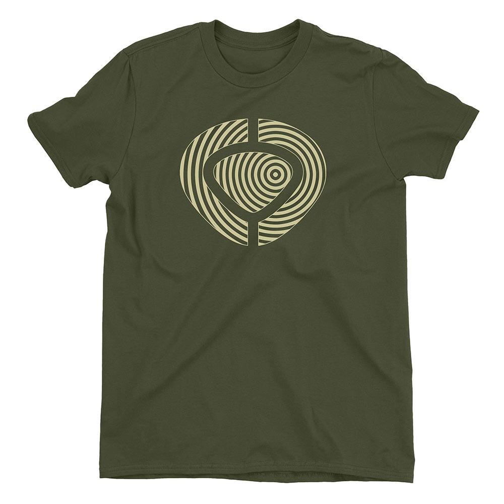 C1rca Spiral Military Green Men's T-Shirt