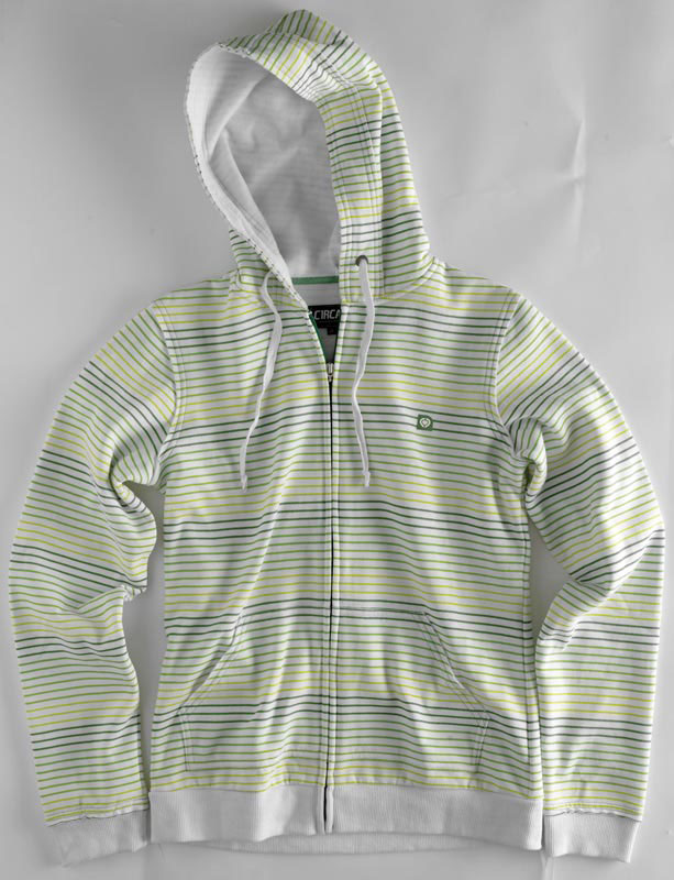 C1rca Stripes White Women's Zip Hood