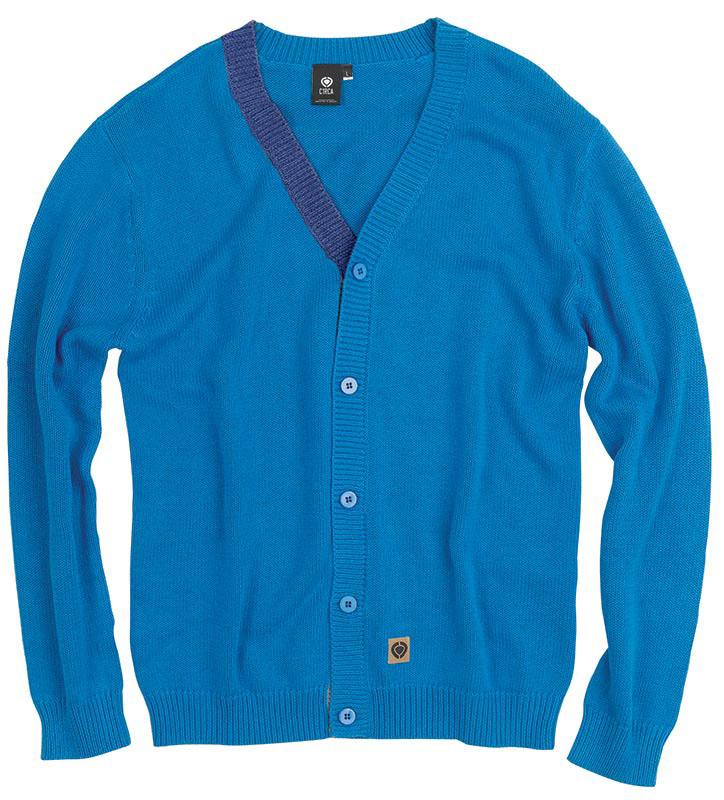 C1rca Tanum Button Up Directoire Blue Men's Sweater