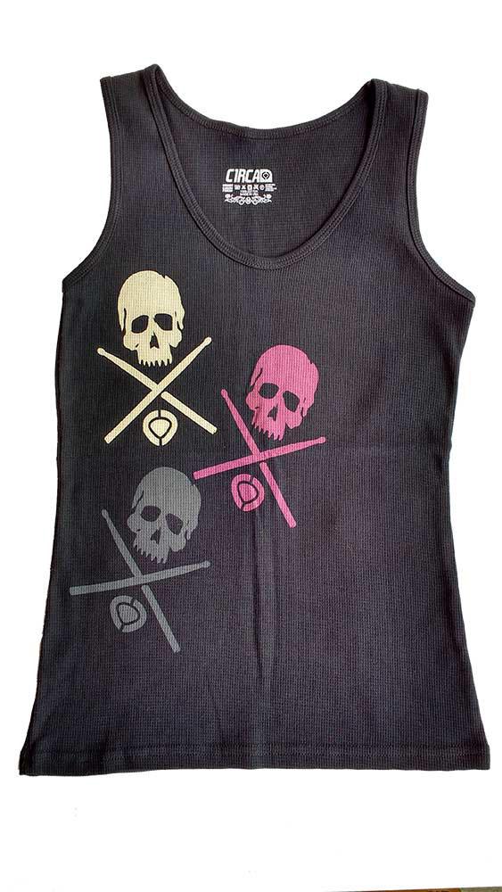 C1rca Tri Skull Black Women's Tank
