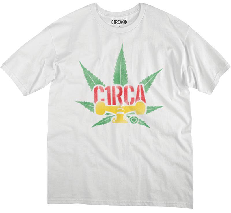 C1rca Truck Leaf White Ανδρικό T-Shirt