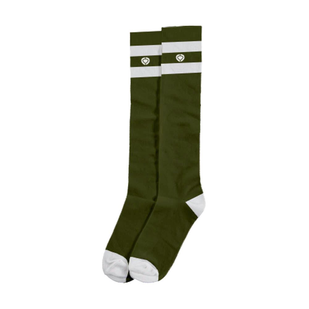 C1rca Walk On Military Green White Socks
