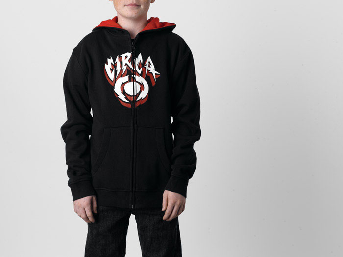 Circa Shocker Icon Black Youth Zip Hood