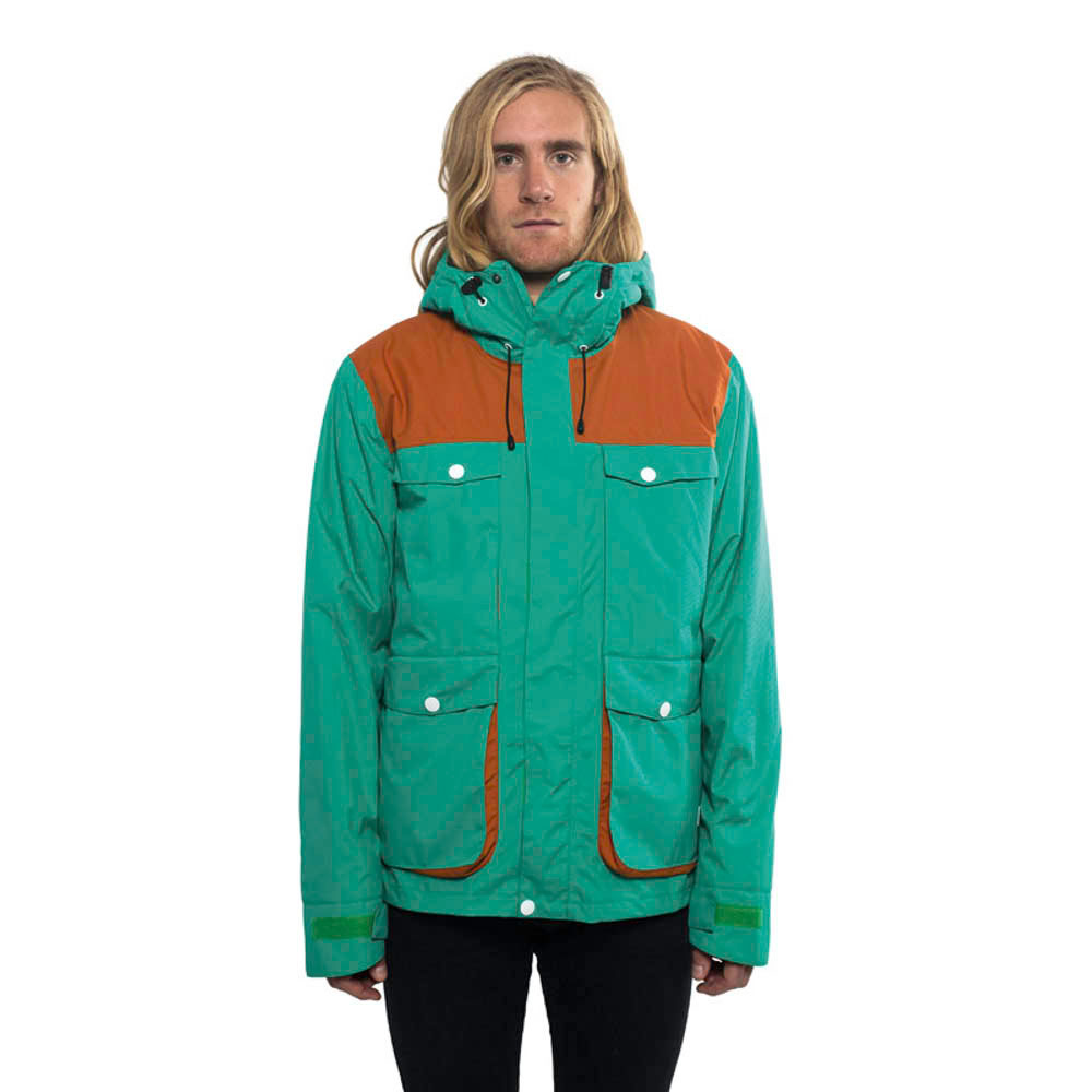 COLOUR WEAR BLOW VIVID GREEN SNOW JACKET