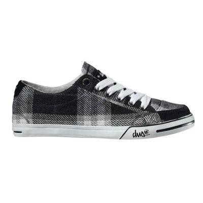 DVS Black Plaid Sandals