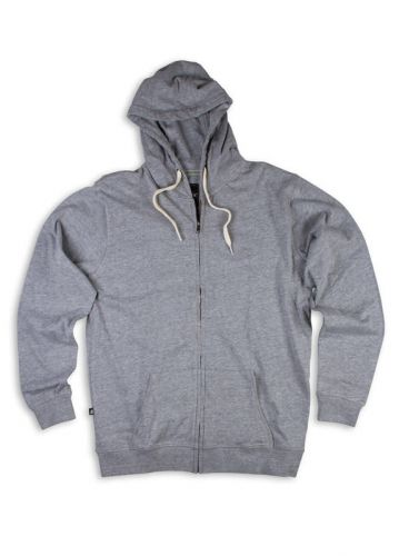 Heather Grey Matix Marshall Zip Fleece Hoody M