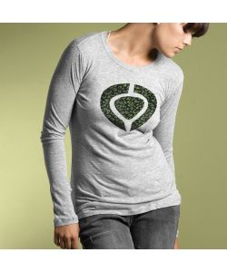 C1rca Animal Icon Heather Grey Women's Long Sleeve T-Shirt