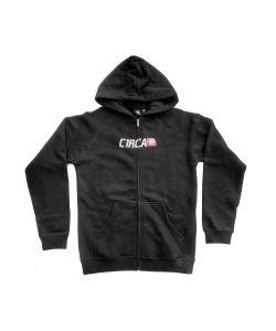 C1rca Corp Logo Black Kids Zip Hoodie