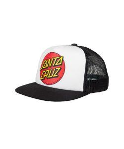 Santa Cruz Classic Dot Snapback White Black Παιδικό Καπέλο