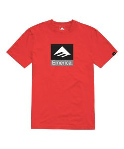 EMERICA CLASSIC COMBO RED T-SHIRT