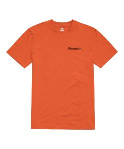 Emerica Pure Logo Orange Black Men's T-Shirt
