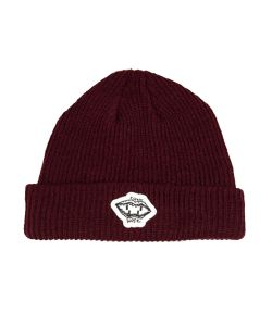 Screw Loose Burgundy Beanie