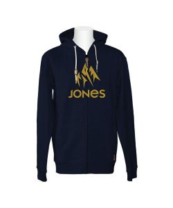 Jones Truckee Navy Heather Men's Zip Hoodie