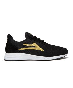 Lakai Evo Black Gold Mesh Suede Men's Shoes
