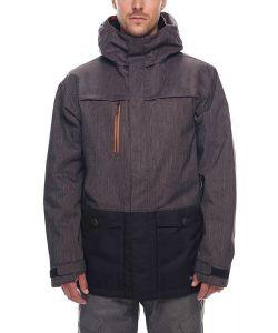 686 Anthem Inslulated Black Denim Colorblock Men's Snow Jacket