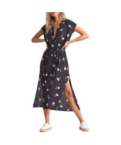 Billabong Little Flirt Black Floral Γυναικείο Φόρεμα